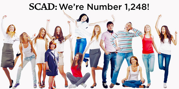 SCAD Beats Art Institute, Capella, and Phoenix University to #1 Spot!