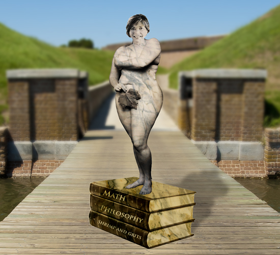 Paula Wallace SCAD Statue to herself